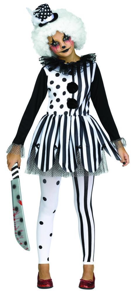 Killer Clown Girl Kostyme Barn 4415004d4094a