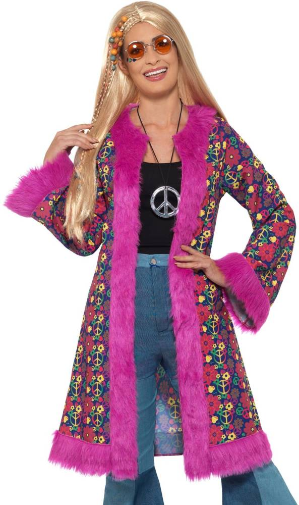 60s Psychedelic Hippie Jakke Lilla