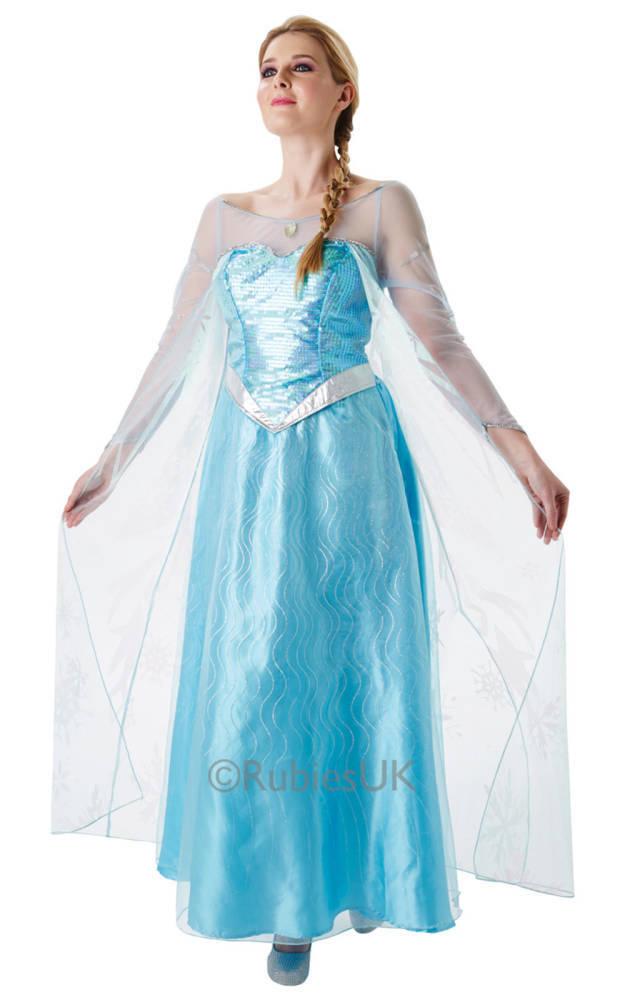 7f2a9233 Frost Elsa Kjole Voksen Lys Blå
