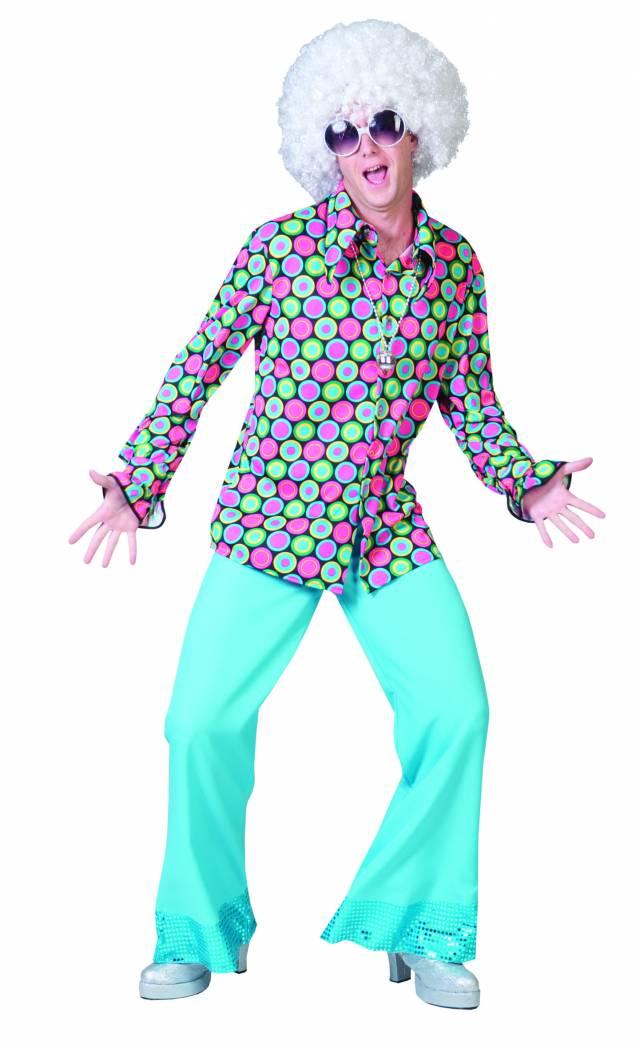 Disco skjorte Neonbomber Herre