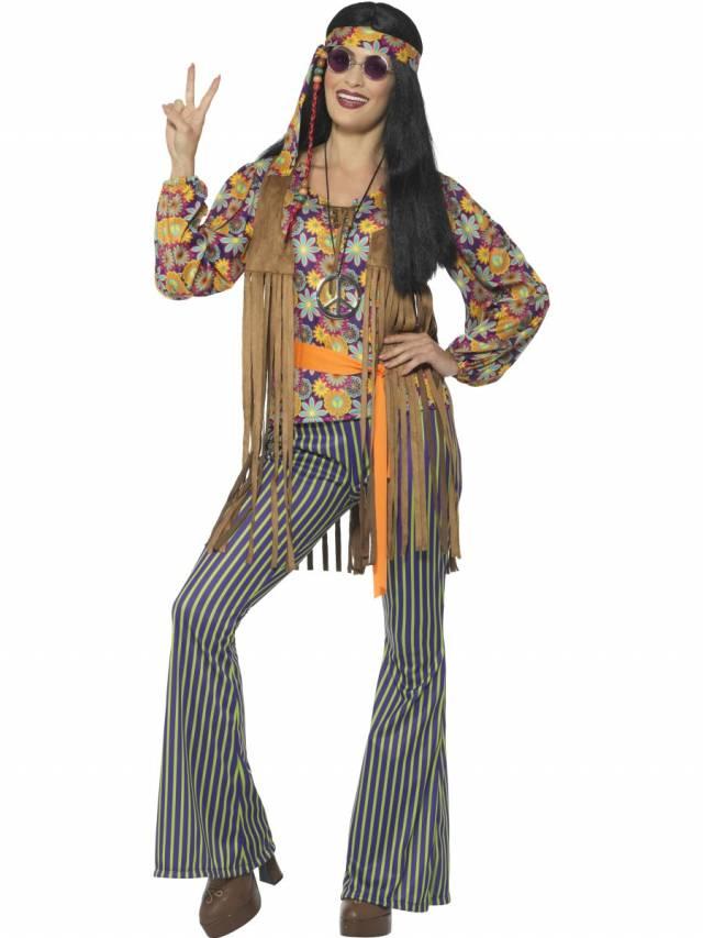 6cdfbec6 1960`s Hippie Singer Kostyme Dame