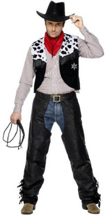 2439ec41 Cowboy Svart Suede Kostyme