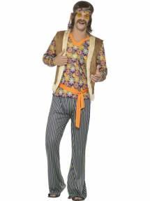 efc29d95 1960`s Hippie Singer Kostyme Herre