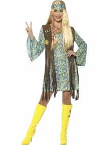 31fe624a 1960`s Hippie Chick Multicolor