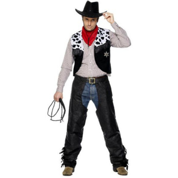 Cowboy Svart Semsket Kostyme
