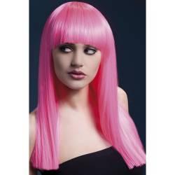 Fever Deluxe Parykk Alexia Neon Pink